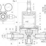 Технический паспорт редуктора БАМО-1,2-1 (редуктор баллонный аммиачный)